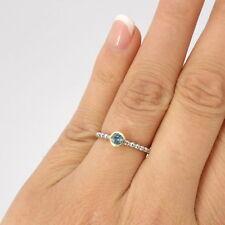 Wert 450 € Topas Ring (0,22 Carat) in 750er 18 K Weißgold Gelbgold Größe 54