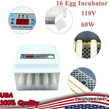 16 Eggs Fully Automatic Hatcher For Hatching Chicken Goose Egg Incubator 60w