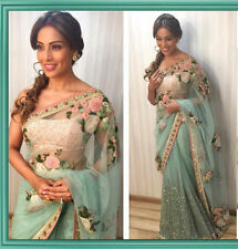 BEAUTIFUL BOLLYWOOD  DESIGNER PARTY WEAR NEW  COLOR NET FABRIC HEAVY  SAREE