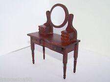 Dolls House toeletta con specchio camera da letto miniatura scala 1:12 bambole