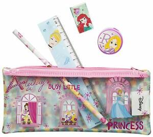 Disney Princess PVC Filled Pencil Case Stationery Set Back To School Or Gift 5pc