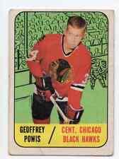 1X GEOFFREY POWIS 1967 68 Topps #110 RC Rookie VG Chicago Black Hawks