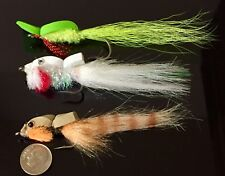 (3) TOP WATER GURGLER STYLE POPPERS. SET 2. FLY FISHING BASS SALTWATER PIKE. NEW
