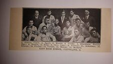 East High School Cleveland Ohio 1910 Football Team Picture RARE!