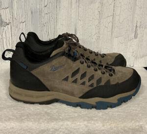 Danner Trailtrek Light Hiking Shoes Grey w/Blue Black 611381 Mens Size 13 D GUC