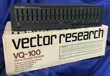 Vector Research Vq-100, Stereo Graphic Equalizer - Made in Japan - New Old Stock