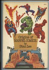 ORIGINS OF MARVEL COMICS by Stan Lee 1st Print Fireside TPB Trade Paperback 1974