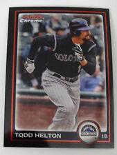 2010 Bowman Chrome #40 Todd Helton Colorado Rockies Baseball Card