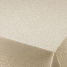 Wachstuch Breite 80 - 130 cm Blumen Relief Creme M Länge  Abwaschbare Tischdecke