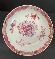 Antique 18th C. Chinese Export Porcelain Saucer Dish Plate Famille Rose