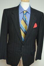 Ermenegildo Zegna Suit Dark Gray Striped Wool $1,495 Italy 38 38R B160