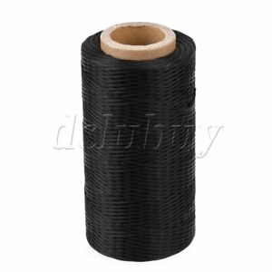 200 Meter 1mm 150D Black Leather Sewing Flat Waxed Polyester Thread Cord DIY