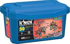Knex 50 Model Building Tub Set - 408 Piece Childrens Construction Kit