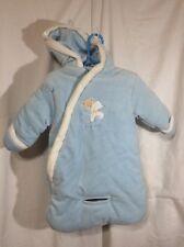 Infant Baby Dove Blue Winter Snow Suit Boys Size 0-12 Months Warm JBY