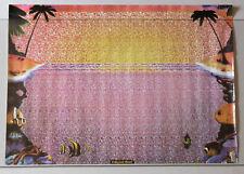 PRL) CALYPSO REEF VINTAGE AFFICHE POSTER ANNI' 90 ART PRINT STAMPA 3D