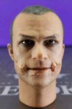 Genuine Hot Toys 1/6 DX01 Batman TDK Joker Heath Ledger Cop head sculpt only !