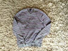 White stuff, L, grey, blue, purple striped lightweight jumper