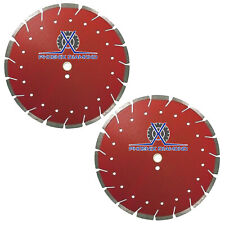 "2Pack 20"" Diamond Blade Red X Cut Combo Blade for Concrete & Asphalt, Dry Wet"