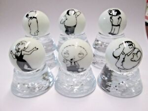FAMILY GUY TV SHOW CHARACTERS 6 PIECE COLLECTOR MARBLES