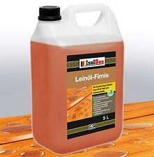 5 Liter Leinöl Firnis Leinölfirnis Holzschutz Holzpflege Harzfrei Lackfirnis.