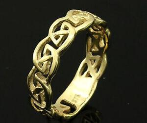 R030 Genuine 9K, 10K,14K or 18K Gold Filigree Keltic Celtic Wedding Band Ring