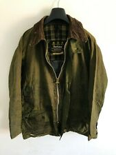 Mens Barbour Beaufort wax jacket Green coat 44in size Large / Extra Large L/XL 4