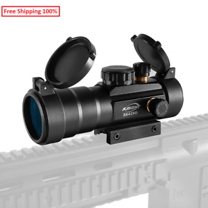 Hunting Scopes Sight Scope Tactical 3X42 Green Red Dot Optics Fit 11/20mm Rifle