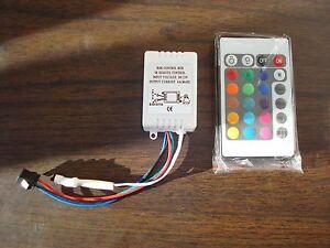 24 Key IR Remote Controller Box LGZ DC 12V 6A SMD RGB LED Strip Light 3528 5050