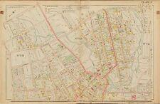 1906 RAHWAY UNION COUNTY NEW JERSEY LINCOLN SCHOOL LAKE AV TO SCOTT AV ATLAS MAP