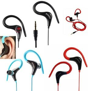 Sports Running Gym Earphone Headphone Ear Hook With Mic for Various Mobile Phone