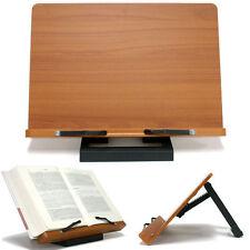 Book Stand Portable Wood Reading Desk Cook Bookrest Recipe Holder Jasmine