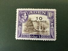Aden 10/- On 10 Rupee Lightly Mounted Mint SG 46 Catalogue Value £42 - 2016