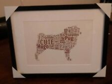 CARLINO CANE Word Art Print PICTURE regalo compleanno amico Pet