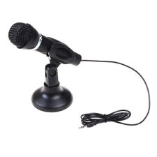 Black condenser sound microphone with stand for pc laptop Zo