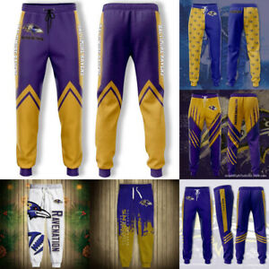 Baltimore Ravens Men's Sweatpants Jogging Training Pants Casual Loose Trousers