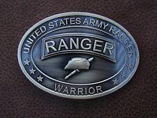U.S ARMY RANGER- COMBAT VETERAN - BRASS PLATED - BELT BUCKLE