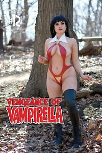 VENGEANCE OF VAMPIRELLA 12 VARIANT COSPLAY OPHELIA V 2 VAMPIRE ELVIRA 1 COPY