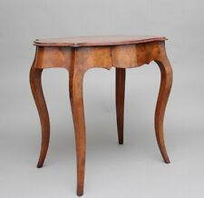 19th Century walnut and boxwood line centre table