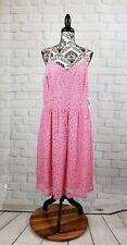 Boutique womens plus sz 3x sleeveless lace overlay dress zip back stretch nwt b7
