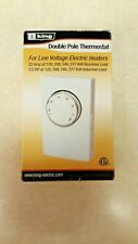 KING K102 Line voltage thermostat (120-277 V double pole) White   Free Shipping