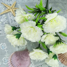 11 Heads Artificial Fake Carnation Silk Flower Mother's Day Home Party Supply