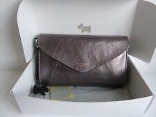 Radley Gilligan Silver Clutch Bag BNWT RRP £129 With Dust Bag - Gift Boxed