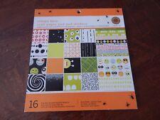 Martha Stewart Crafts Halloween Craft Paper Pad & Stickers Creepy Face NEW