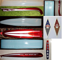 Murray Meteor Flite Decal/Sticker Set: tank rack chainguard forks tube bezel