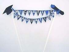 Handmade Personalised Cake Topper.  Graduation - Bunting.  Any Name / Colour