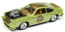 Johnny Lightning 1/64 1976 Ford Mustang Cobra Lime Green Metallic JLSF007