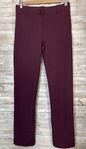 Betabrand Womens Medium Yoga Dress Pants Straight Leg Plum Purple