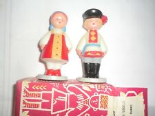 Vintage Russian dolls boy & girl with box