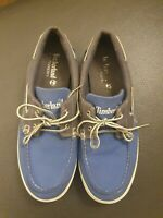 Timberland Earthkeepers Canvas Boat Deck Shoes Size UK 8 Blue/grey