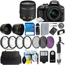 Nikon D3400 Digital SLR Camera Body 3 Lens Kit 18-55mm Lens + 32GB I3ePro Bundle